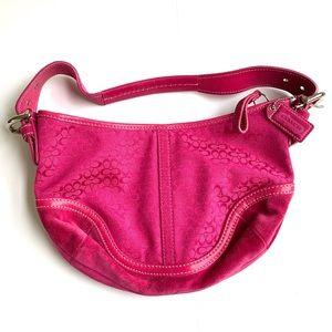 *SALE* Coach Fuchsia Small Mini Signature Hobo Bag